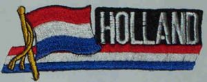 Holland Embroidered Flag Patch, style 01.